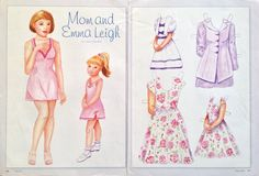 Mom and Emma Leigh Paper Doll by Carol Fairchild, 2005, Mag. PD | eBay