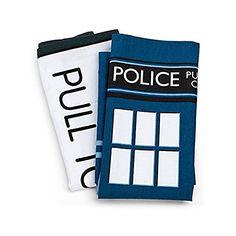 Amazon.com: Doctor Who TARDIS Tea Towels: Kitchen & Dining