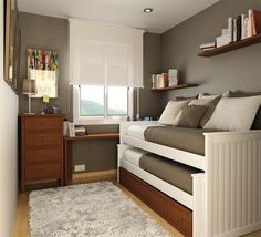 desain tempat tidur minimalis Minimalist Bedroom Design for Tiny Rooms