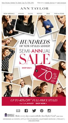 Ann Taylor email 2014