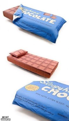 Chocolate bed, yes please!