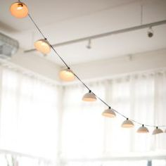 Pleated String Lights -  - from Pigeon Toe Ceramics' Spring/Summer Collection.