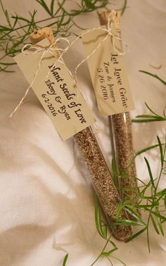 25 Wild Flower Wedding Favors with Custom Tags by lavenderpapers