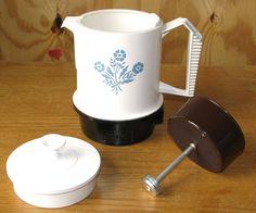Regal coffee pot with Corning Ware Cornflower