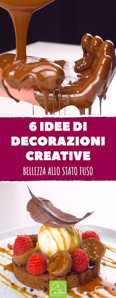 Great decorations with chocolate for desserts, part I With these 6 decoration ideas you will delight every sweet tooth. Tolle Dekorationen mit Schokolade für Desserts, Teil I 282 Source by leckerschmecker Decoration Patisserie, Dessert Decoration, Chocolate Art, Chocolate Recipes, Chocolate Ganache, Homemade Chocolate, Patisserie Fine, Chocolate Decorations, Fall Desserts