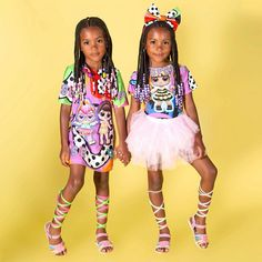 Twining and winning 💝💝™️👭 - 👯‍♀️ Twin Powers.these girls will be an unstoppable force ✨ * Outfits Edit Hair * * * * * * * * * Cute Kids Fashion, Black Girl Fashion, Cute Outfits For Kids, Teen Fashion, Twin Baby Girls, Black Baby Girls, Cute Baby Girl, Black Babies, Twin Outfits