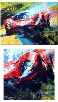 Slide Action (Ferrari / Targa Florio) Original Painting by John Ketchell