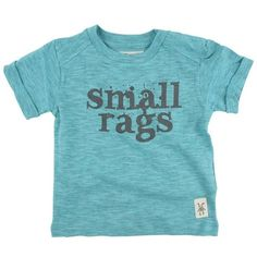 Small Rags Bruce T-shirt 60266 via Polyvore featuring tops, t-shirts, blue top, blue t shirt en blue tee