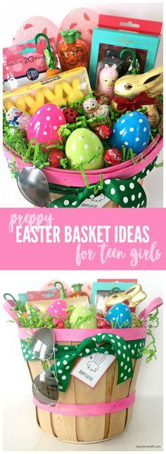 Easter basket ideas for teenage girls gift ideas pinterest easter basket ideas for teen girls negle Images