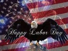 Happy Labor Day Eagle Graphic For Share On Myspace