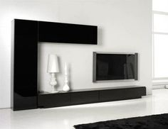 Modern All in One Wall Storage System TV Unit and Tall Cabinet and Wall Cabinet