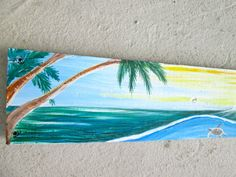 You can have a beautiful original art custom order costal beach sign to suit your Home. This sign was painted for a past customer- Thank You Barbara!  Basic lengths: 24 inches long x 3 inches long.. acrylic paint ..on recycled wood. Rope hanger at the top so that it fits flat against your wal Can be placed outdoors or indoors. Coat of varnish on top.  Name of house or Family painted as in the example shown- Send me your information after purchase. Signs are painted within 5- 7 days…