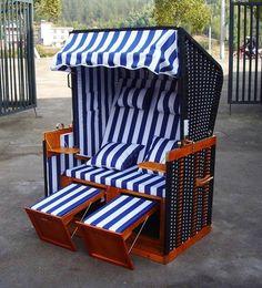 "Home/>it® Premium Rattan Strandkorb ""Ostsee-XXL/"" 158 cm 3-Sitzer mit Kissen"