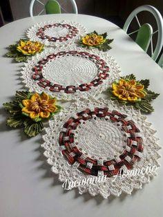 Thread Crochet, Crochet Doilies, Crochet Flowers, Crochet Kitchen, Crochet Home, Crochet Designs, Crochet Patterns, Crochet Flower Tutorial, Crochet Circles