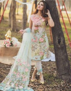 Pakistani Dresses Online Shopping in Pakistan - Buy Pakistani Dresses Online Pakistani Fashion Casual, Pakistani Dresses Casual, Pakistani Dress Design, Indian Fashion, Pakistani Lawn Suits, Pakistani Dresses Online, Indian Dresses, Indian Outfits, Indian Designer Outfits