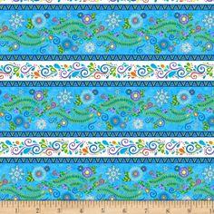 Wilmington Arctic Wonderland Repeating Stripe Multi - Discount Designer Fabric - Fabric.com Wilmington Prints, Christmas Fabric, Discount Designer, Shades Of Blue, Arctic, Accent Decor, Fabric Design, Printing On Fabric, Wonderland