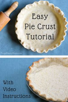 I used to be really intimidated about making pie crusts until I learned a few tips. Now you can make perfect pie crusts at home by following these few simple tips. I've included my favorite recipe too. It only contains 4 ingredients.