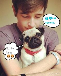 @dantdm #pugs by miss_magic5624 My sister always watches this guy