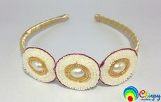 Designer Baby Golden Pearl Hairband/Headband/Hair Accessory by ChirpyCreations on Etsy