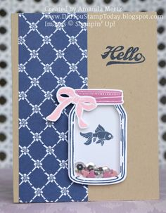 Fish in a Jar by mandypandy - Cards and Paper Crafts at Splitcoaststampers