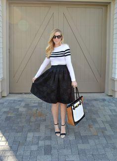Black Midi Skirt - Winter 2015 Style