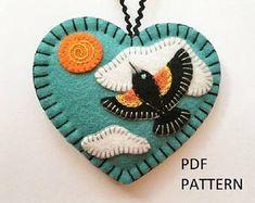 PDF Pattern - Red Wing Blackbird Ornament