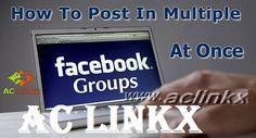 Post Multiple Groups, Facebook auto poster, multi post Facebook