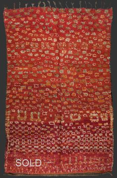 TM 1371, Ait Sgougou pile rug with unusual drawing, western Middle Atlas, Morocco, 1960s/70s, 285 x 185 cm (9' 4'' x 6' 1''), p.o.a.