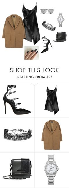 """Untitled #989"" by eleniakhalkatsi on Polyvore featuring Dsquared2, Boohoo, Fallon, Kendall + Kylie, TAG Heuer and Prada"