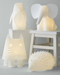 zoo-themed lighting for a nursery
