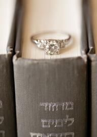Such a great engagement ring shot on the Hebrew Bible.  Photo by Candi Coffman Photography.