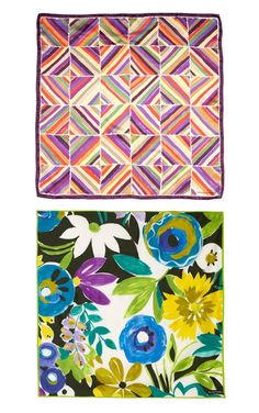 Collier Campbell Hand-painted silk scarves Love the floral one on the bottom » Eat Drink Chic