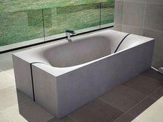concrete tub wave furniture dadedesign