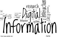 Digital Information Wordle.