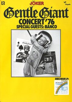 Gentle Giant - Playing The Fool 1976 - Poster Plakat Konzertposter
