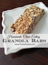 Wednesday Real Food Recipe – Homemade Clean Eating Granola Bars – Losing weight with real, unprocessed food.