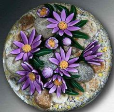 Cathy Richardsons Mountain Asters Paperweight Fine Art | eBay