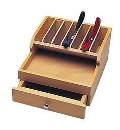 Jewelry Workbenches 67719: Wood Plier Rack With Drawer -> BUY IT NOW ONLY: $43.99 on eBay!