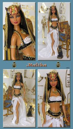 egyptian queen malika barbie repaint