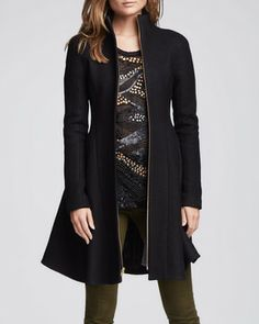 Nanette Lepore Skyscape Fit & Flare Wool Coat at styletheories.com & shopstyle