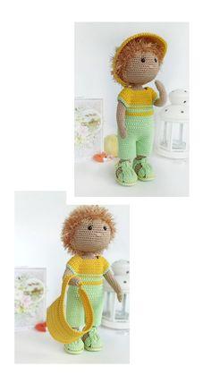 Crochet Doll Pattern, Crochet Toys Patterns, Stuffed Toys Patterns, Doll Patterns, Diy Crochet And Knitting, Crochet Gifts, Knitted Dolls, Crochet Dolls, Rope Crafts