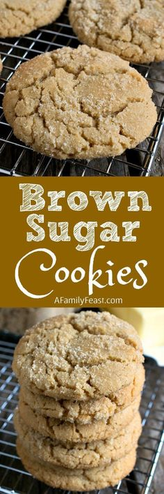 Brown Sugar Cookies are a clever twist on the traditional sugar cookie recipe thanks to some simple swaps that add great flavor! Also known as ELSA cookies Oreo Dessert, Cookie Desserts, Cookie Bars, Just Desserts, Delicious Desserts, Yummy Food, Simple Sweets Recipes, Drop Cookie Recipes, Cookie Table