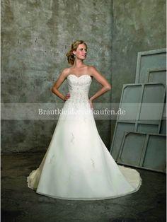 Elegant Chiffon Herz-Ausschnitt A-Linie Hochzeitskleid ML2105
