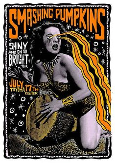 """Reproduction Smashing Pumpkins Poster """"Toyota Centre"""", Home Wall Art Jazz Poster, Punk Poster, New Poster, Poster Wall, Poster Prints, Rock Posters, Concert Posters, Music Posters, Miles Davis Poster"""