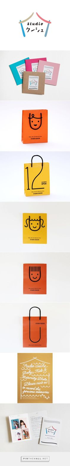studio couche on Behance by Hiroko Sakai curated by Packaging Diva PD. Cute packaging branding for baby kids ad maternity photo studio : )