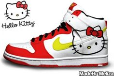 best service ddf61 32979 Nike Dunk High For Womens Nike Dunk Shoes White Red Hello Kitty .