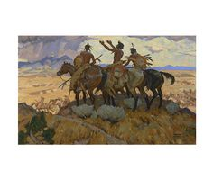 """18"""" x 20"""" Canvas Gicleé gallery wrap reproduction of A.R. Mitchell's western painting titled Prayer"""
