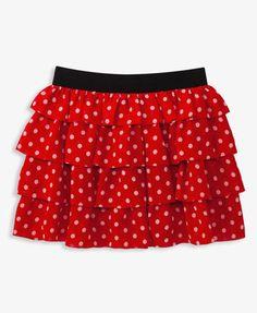 Ruffled Polka Dot Skirt
