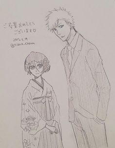 Bleach Ichigo And Rukia, Anime Bleach, Kuchiki Rukia, Bleach Fanart, Manga, Bleach Couples, Narusaku, Cute Anime Guys, Anime Couples