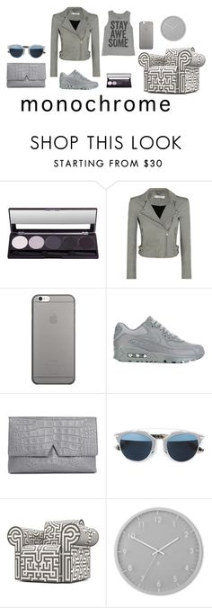 """""""Senza titolo #919"""" by granatina ❤ liked on Polyvore featuring IRO, Native Union, NIKE, Vince, Christian Dior, Moooi, Umbra, Billabong and monochrome"""